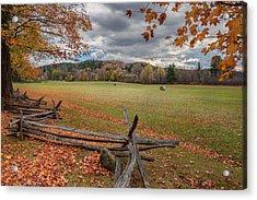 New England Autumn Field Acrylic Print by Bill Wakeley