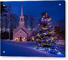 New England Christmas Acrylic Print by Michael Blanchette