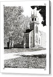 New England Church Acrylic Print