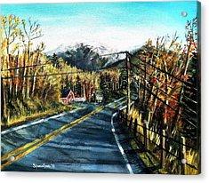 New England Drive Acrylic Print