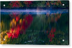 New England Fall Abstract Acrylic Print by Dapixara photos