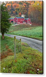 New England Farm Acrylic Print by Bill Wakeley