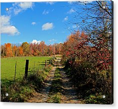 New England Farm Rota Springs Acrylic Print