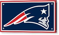 New England Patriots Acrylic Print by Tony Rubino
