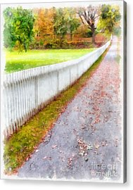 New England Picket Fence Acrylic Print by Edward Fielding