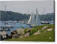 Acrylic Print featuring the photograph New England Seascape by Denyse Duhaime