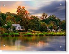 New England Setting Acrylic Print by Lourry Legarde