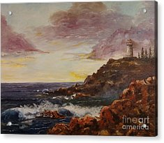 Acrylic Print featuring the painting New England Storm by Lee Piper
