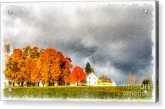 New England Village Acrylic Print