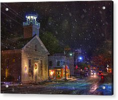 New England Winter - Stowe Vermont Acrylic Print by Joann Vitali
