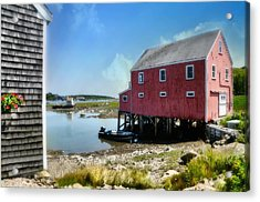 New England's  Maine Acrylic Print by Diana Angstadt