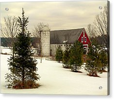 New Hampshire Barn Acrylic Print by Janice Drew