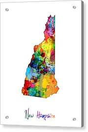 New Hampshire Map Acrylic Print