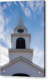 New Hampshire Steeple Dreamy View Acrylic Print by Karen Stephenson