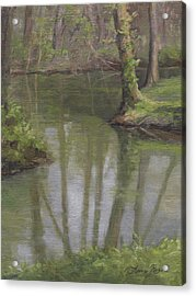 New Harmony Spring Acrylic Print by Anna Rose Bain