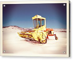 New Holland 910 Windrower Acrylic Print by Yo Pedro
