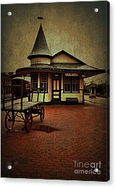 Acrylic Print featuring the photograph New Hope Ivyland Train Station by Debra Fedchin
