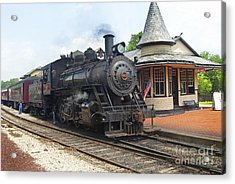 New Hope Station Acrylic Print by Paul W Faust -  Impressions of Light