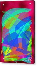 Acrylic Print featuring the painting New Horizons II by Ilona Svetluska