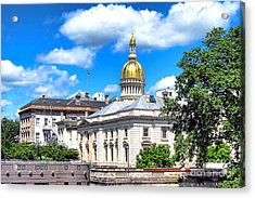 New Jersey Capitol Acrylic Print by Olivier Le Queinec