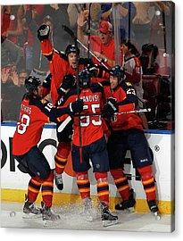 New Jersey Devils V Florida Panthers - Acrylic Print by Joel Auerbach