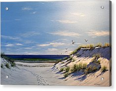 New Jersey Dune Walk Acrylic Print by Ken Ahlering