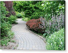 Acrylic Print featuring the photograph Frelinghuysen Arboretum Path by Richard Bryce and Family