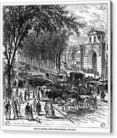 New Jersey Newark, 1876 Acrylic Print by Granger