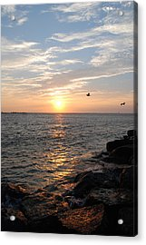 New Jersey Sunrise Acrylic Print by Kathy Gibbons