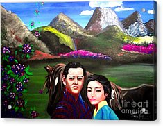 New King And Queen Of Bhutan Acrylic Print