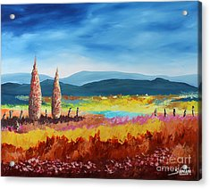 New Land Acrylic Print by Andrew Sanan