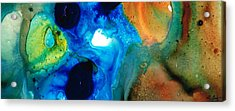 New Life - Abstract Landscape Art Acrylic Print by Sharon Cummings