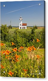 New London Range Rear Lighthouse Acrylic Print by Elena Elisseeva