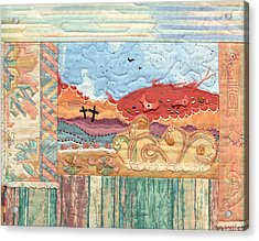 New Mexican Lanscape Acrylic Print by MtnWoman Silver