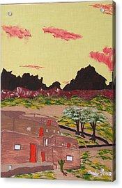 New Mexico Adobe Home Acrylic Print