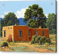 New Mexico Adobe Acrylic Print by Randy Follis