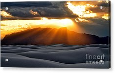 Acrylic Print featuring the photograph New Mexico Desert by Brian Spencer