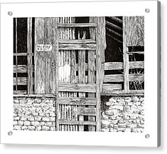 Will Build To Suit New Mexico Doors Acrylic Print by Jack Pumphrey