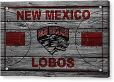 New Mexico Lobos Acrylic Print by Joe Hamilton