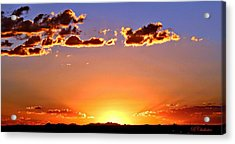 Acrylic Print featuring the photograph New Mexico Sunset Glow by Barbara Chichester
