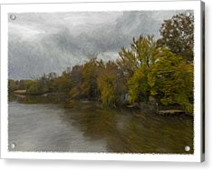 New Milford By Water Side Acrylic Print