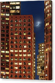 New Moon Over Boston Acrylic Print by Babak Tafreshi