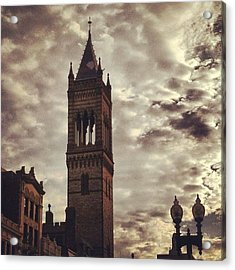 New Old South Church Acrylic Print by Stephen Melcher