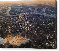 Acrylic Print featuring the photograph New Orleans Aerial View by Anthony Citro