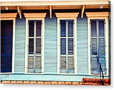 Acrylic Print featuring the photograph New Orleans Blue And Orange House by Sylvia Cook