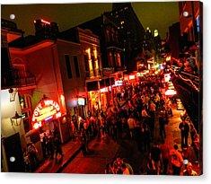 New Orleans - Bourbon St. 003 Acrylic Print by Lance Vaughn