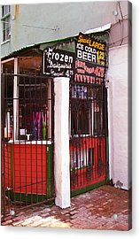 New Orleans - Bourbon Street 5 Acrylic Print by Frank Romeo