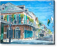 New Orleans Bourbon Street Acrylic Print by Anthony Butera