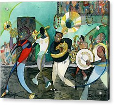 New Orleans Brass Band Jazz Acrylic Print