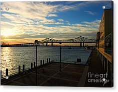 Acrylic Print featuring the photograph New Orleans Bridge by Erika Weber